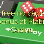 80 free no deposit bonus at Platin Casino