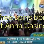 85 free spins bonus at Anna Casino