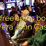 115 free spins bonus at Vera John Casino