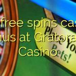 120 free spins casino bonus at Gratorama Casino