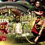 120 free spins casino bonus at Volt Casino