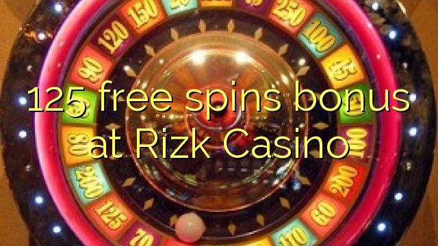 125 putaran percuma bonus di Rizk Casino