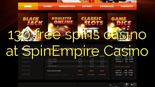 130 darmowych gier w kasynie w kasynie SpinEmpire
