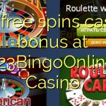 130 free spins casino bonus at 123BingoOnline Casino
