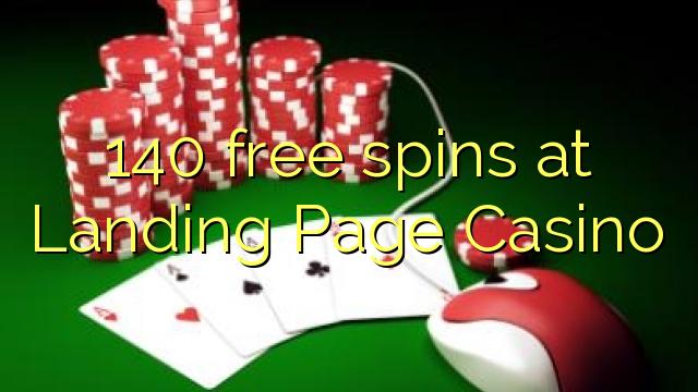 140 free spins på Landing Page Casino