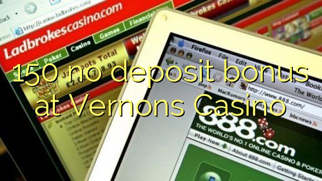 Vernons casino no deposit bonus