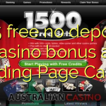 155 free no deposit casino bonus at Landing Page Casino