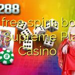 160 free spins bonus at Supreme Play Casino
