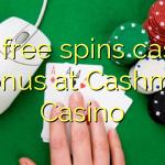 160 free spins casino bonus at Cashmio Casino