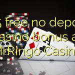 165 free no deposit casino bonus at MrRingo Casino