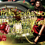 165 free spins bonus at SunnyPlayer Casino