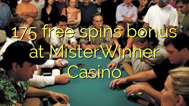 175 bébas spins bonus di MisterWinner Kasino