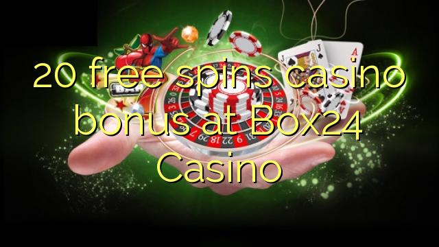 20 bezmaksas griezienus kazino bonusu Box24 Casino