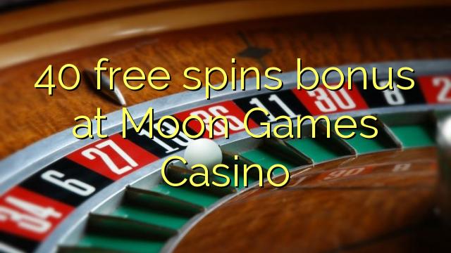 40 freier Spin-Bonus bei Moon Games Casino