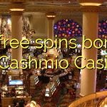 55 free spins bonus at Cashmio Casino