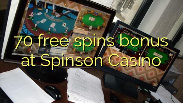 70 gratis spins bonus på Spinson Casino