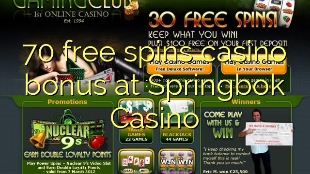 Code coupons springbok casino