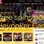 95 free spins bonus at Heypoker Casino