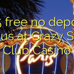 105 free no deposit bonus at Crazy Slots Club Casino