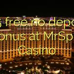 105 free no deposit bonus at MrSpill Casino