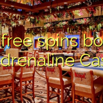 155 free spins bonus at Adrenaline Casino