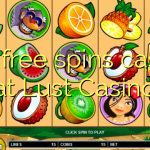 160 free spins casino at Lust Casino