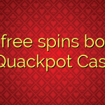 175 free spins bonus at Quackpot Casino