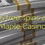 45 free spins at Maple Casino