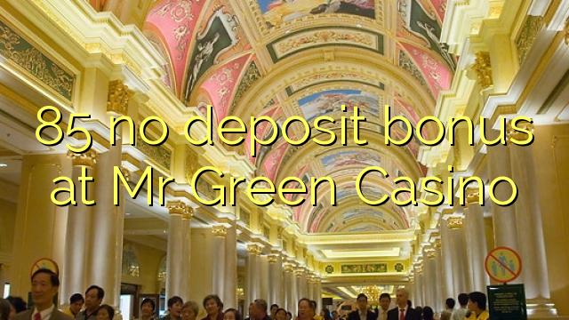 85 no deposit bonus at Mr Green Casino
