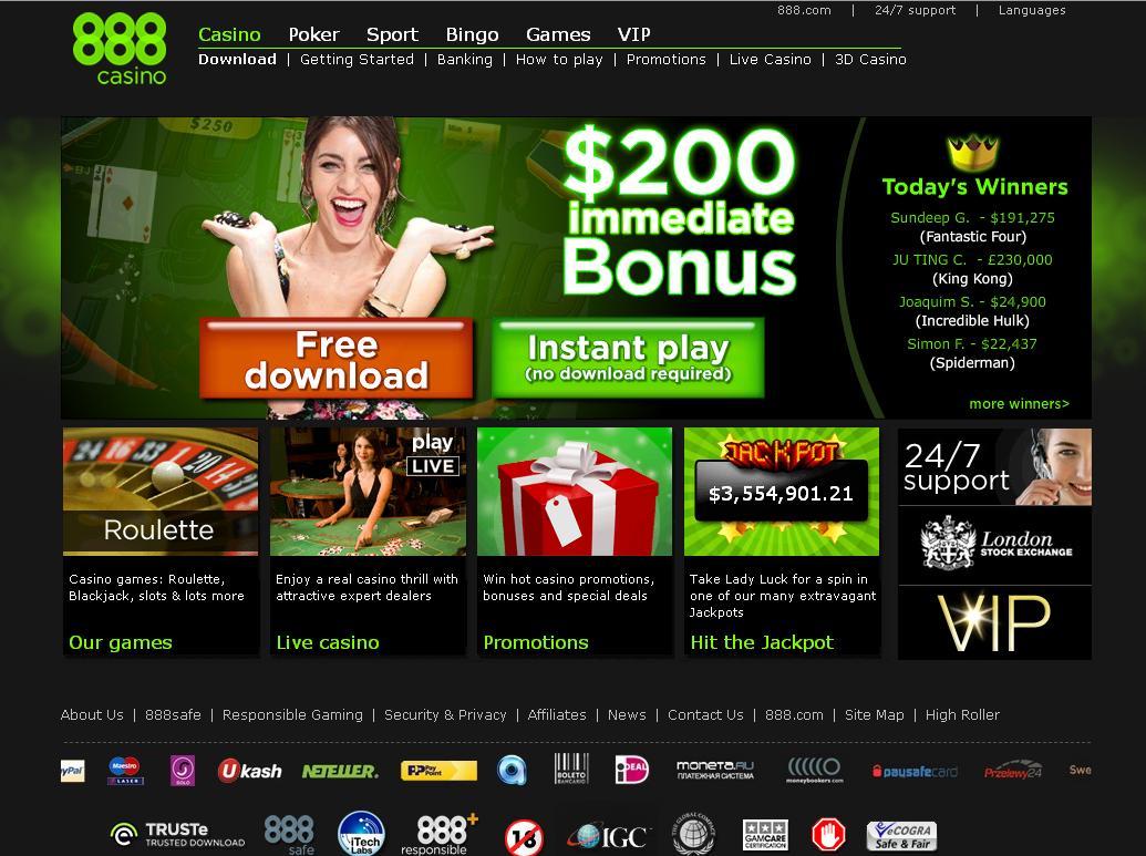 888 casino usa review