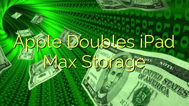 Apple Doubles iPad Max Storage