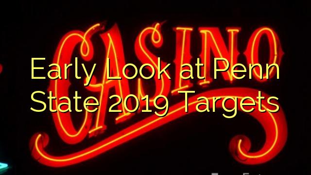 Primo sguardo obiettivi Penn State 2019