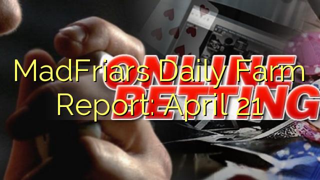 Daily MadFriars Farm Report: Aprilis 21