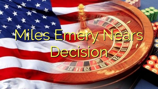Миља Емери ближи Одлука