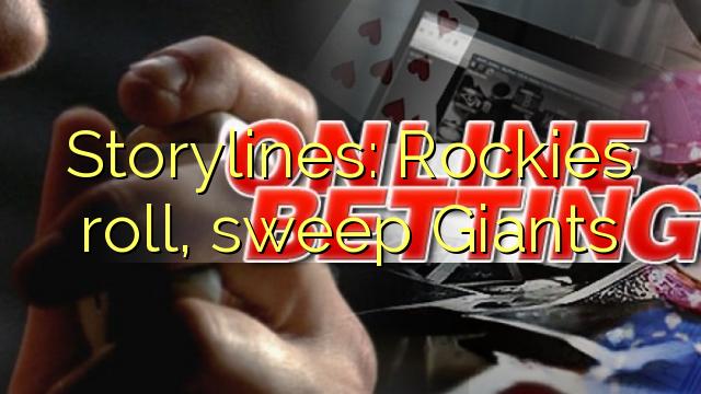 Storylines: Rockies roll, sweep Giants