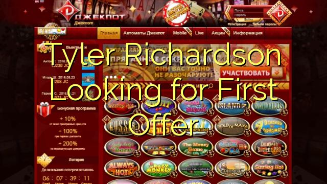 Tyler Richardson Leter etter første tilbudet