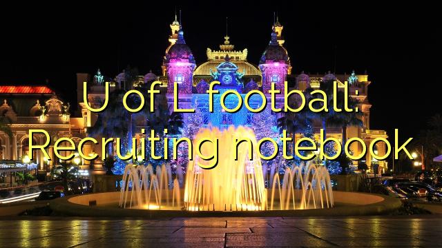 U fotbalu L: Nábor notebooků