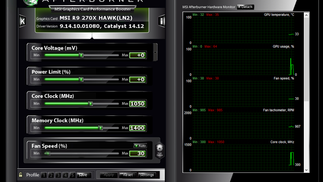 MSI Afterburner v4.1.0 Final: VGA Overclock için en iyi yazılım