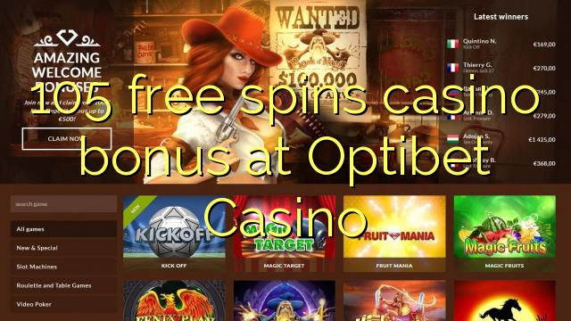 105 Freispiele Casino Bonus bei Optibet Casino