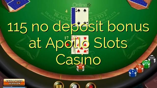 no deposit bonus codes apollo casino