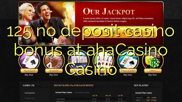 AXA Casino Casino-da 125 heç bir əmanət qazanmaq bonusu