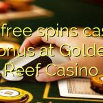 150 free spins casino bonus at Golden Reef Casino