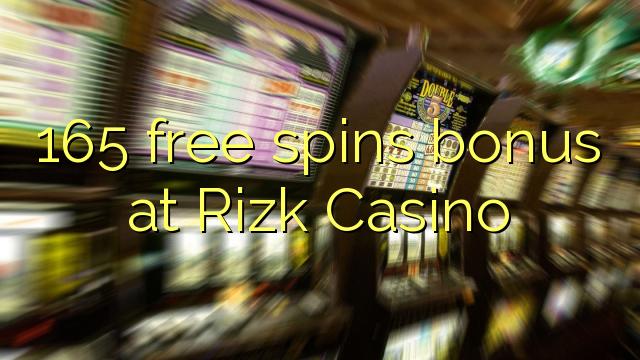 165 free spins bonus at Rizk Casino