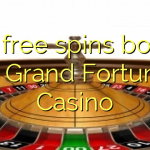 170 free spins bonus at Grand Fortune Casino