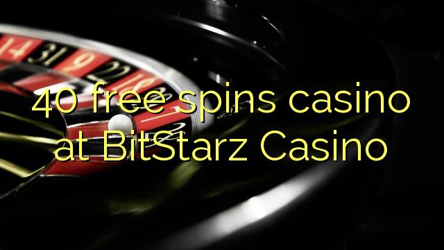 40 gratis spins casino på BitStarz Casino