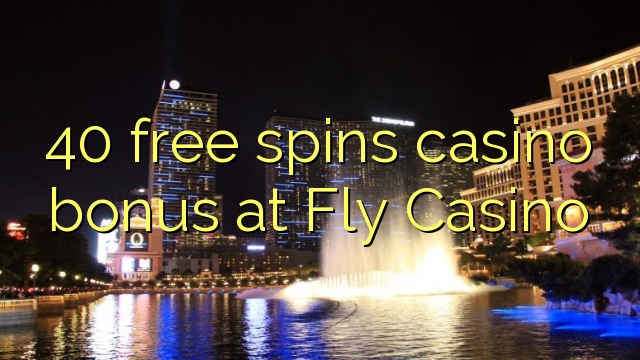 40 free spins casino bonus at Fly Casino