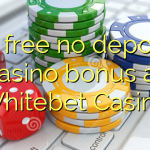 45 free no deposit casino bonus at Whitebet Casino