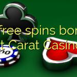 55 free spins bonus at Carat Casino