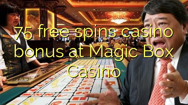 在魔盒賭場,75自由轉動賭場獎金