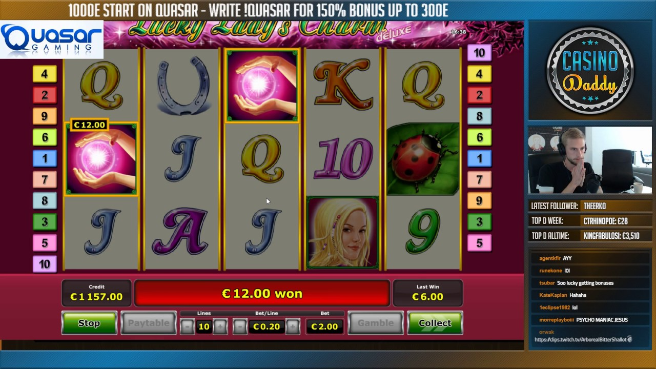 online casino winner lucky charm book